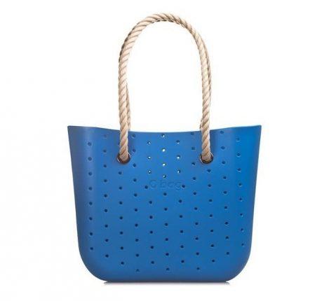 O Bag Borsa Blu Traforata