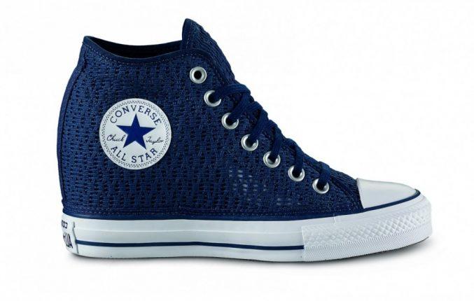 Sneakers Blu Con Zeppa Converse All Star