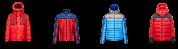 Piumini Moncler collezione uomo autunno inverno
