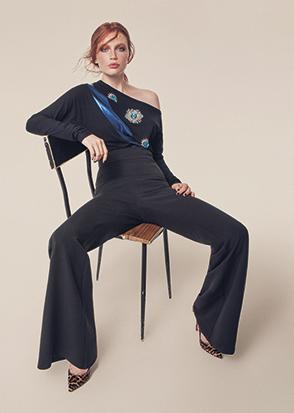 Denny Rose Blusa Elegante Monospalla