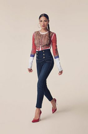 Denny Rose Jeans A Vita Alta