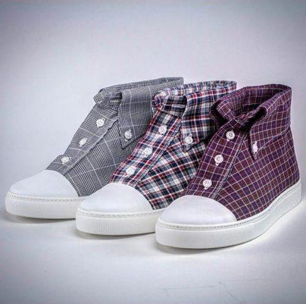 Sciuscert sneakers camicia a quadretti