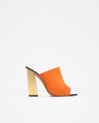 Zara Scarpe Primavera Estate 2016 Sandali Tacco A Cugno