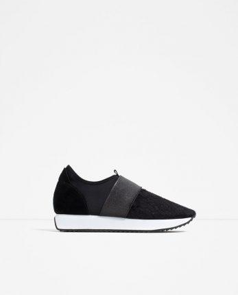 Zara Scarpe Primavera Estate 2016 Sneakers Con Zeppa