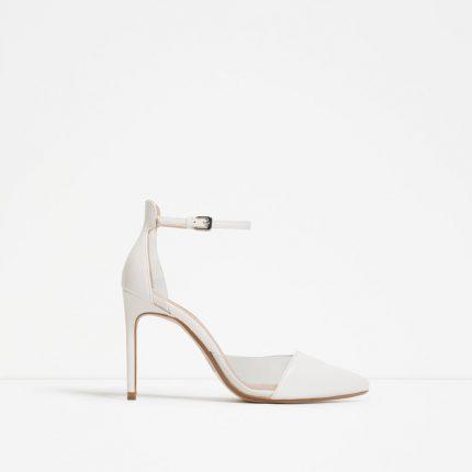 Zara Scarpe Primavera Estate 2016 Tacco Alto Bianche