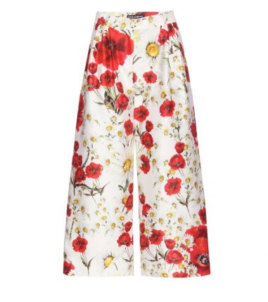 Dolce Gabbana Pantaloni Fiori