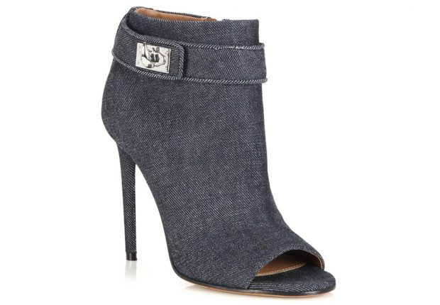 Givenchy Scarpe Shark Tooth Denim Peep Toe Booties