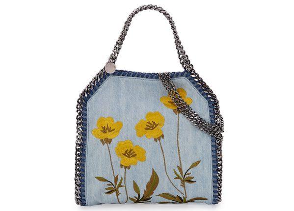 Stella McCartney Borsa Falabella Mini Embroidered Denim