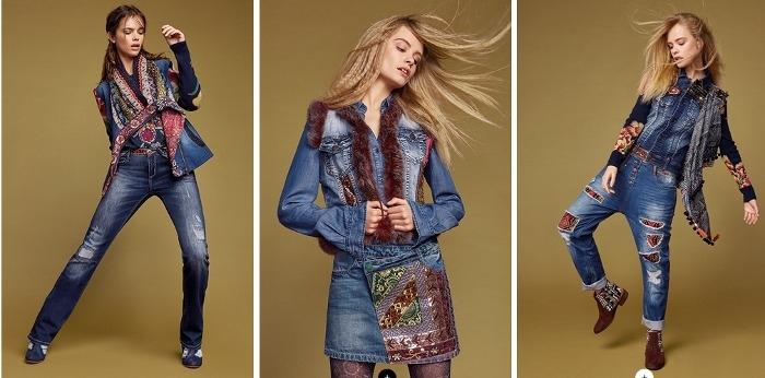 Desigual Jeans Autunno Inverno 2017