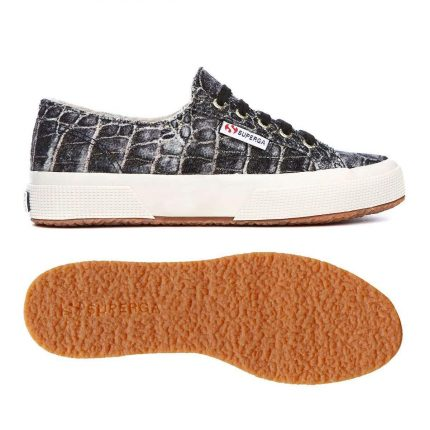 Sneakers Effetto Coccodrillo Superga