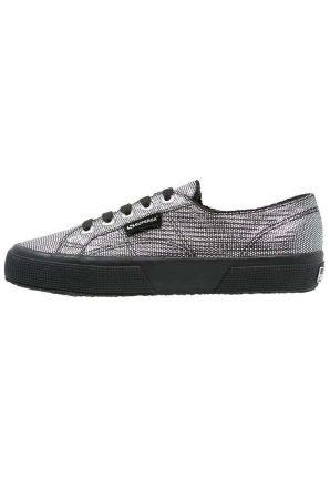 Sneakers Grigie Superga Con Suola Nera