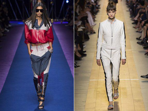 Completi pelle sportivi Versace Christian Dior