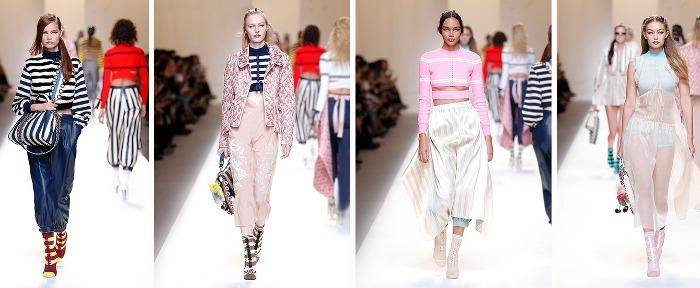 Fendi collezione moda abbigliamento catalogo Primavera Estate 2017