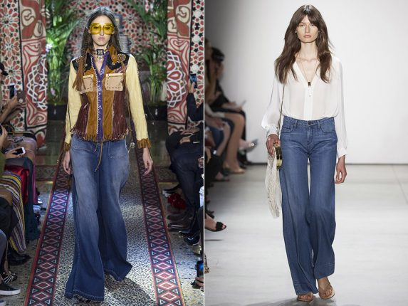Jeans a zampa di elefante Roberto Cavalli Erin Fetherston