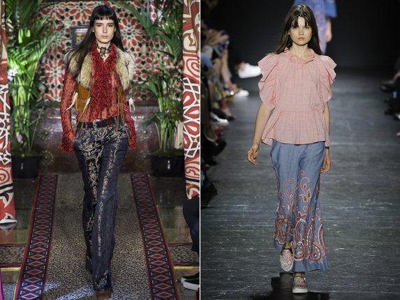 Jeans a zampa di elefante Roberto Cavalli Vivienne Tam