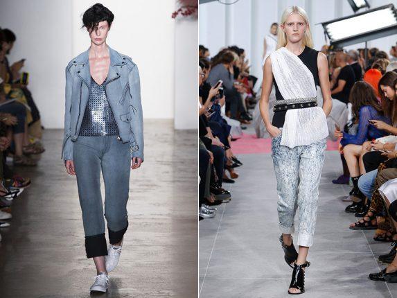 Jeans con risvolto Adam Selman Carven