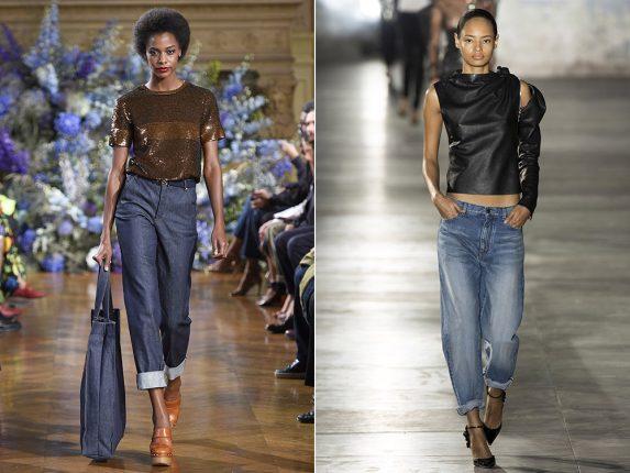 Jeans con risvolto Vanessa Seward Saint Laurent