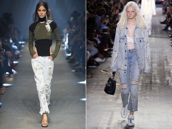 Jeans consumati e strappati Versus Versace Alexander Wang