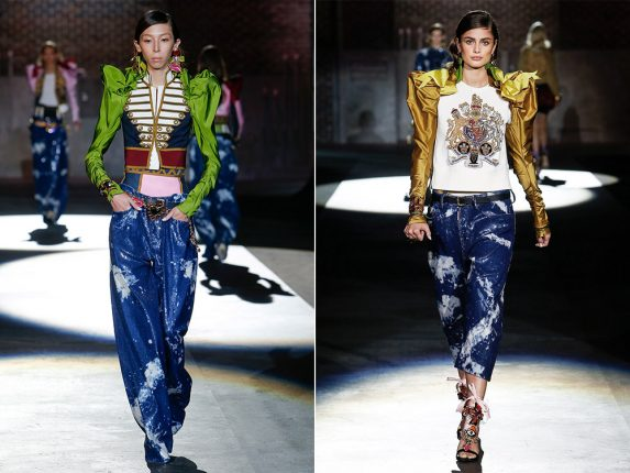Jeans in stile grunge Dsquared2