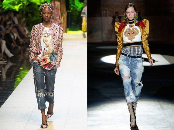 Jeans strapati Dolce Gabbana Dsquared2