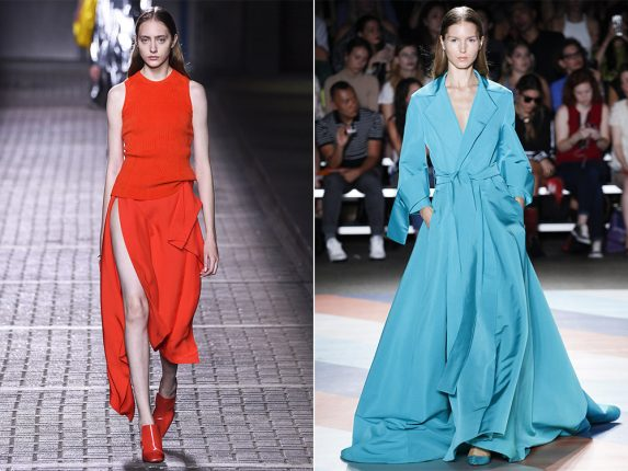 Look mono colore Mulberry Shristian Siriano