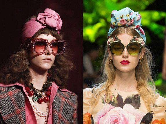 Occhiali con decori Gucci Dolce Gabbana