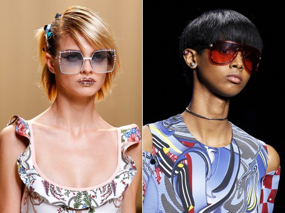 Occhiali oversize Fendi Versace