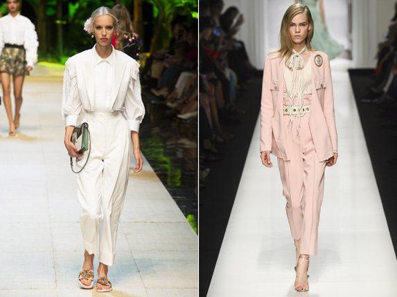 Pantaloni a vita alta Dolce Gabbana Ermanno Scervino