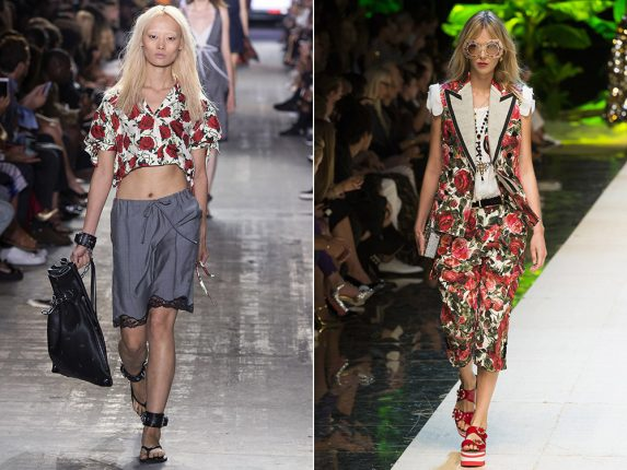 Vestiti floreali Alexander Wang Dolce Gabbana