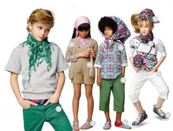 Benetton primavera estate 2017 collezione bambini