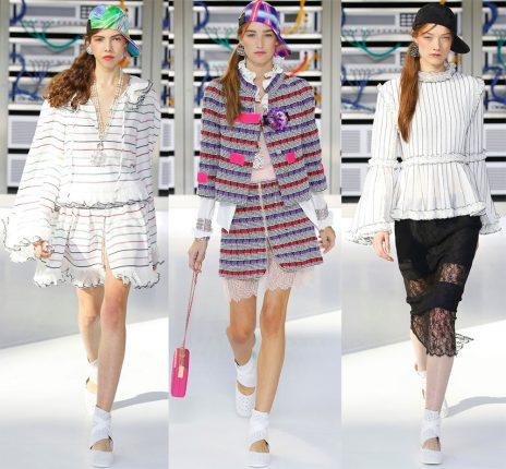 Vestiti a righe Chanel