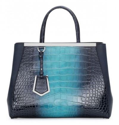 2jours croc leather shades blue Fendi autunno inverno 2014 2015