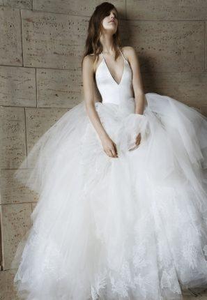 Abito da sposa con scollatura a V Vera Wang 2015