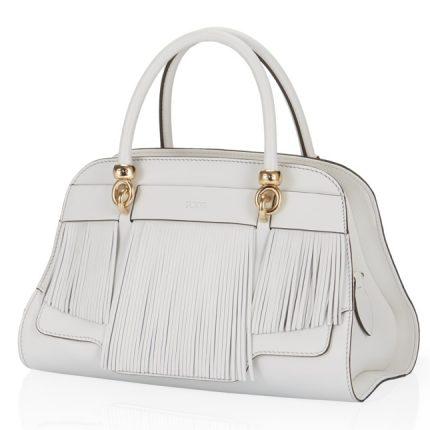 Tod's borsa bianca con frange