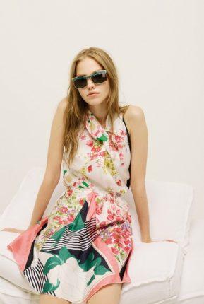Abito a fiori Nina Ricci primavera estate 2014