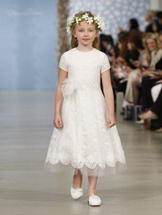 Abito bambina bianco pizzo Oscar de la Renta 2014