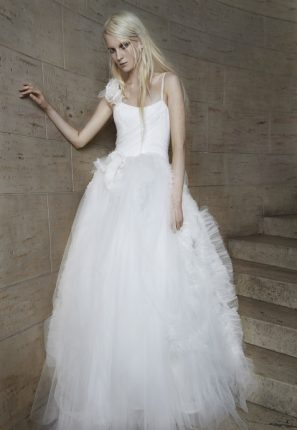 Abito con gonna in tulle Vera Wang 2015