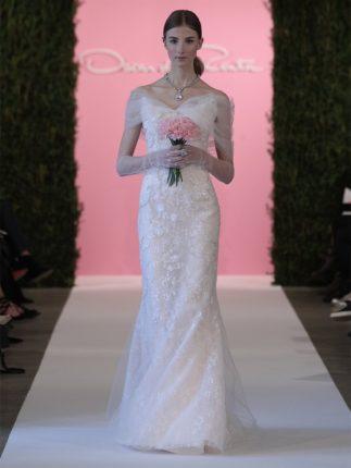 Abito da sposa a-line Oscar de la Renta 2015