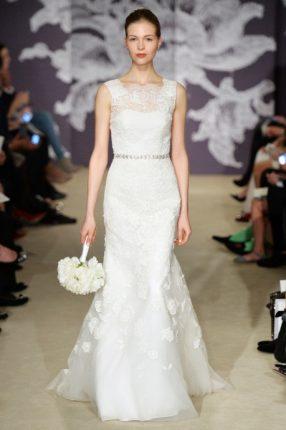 Abito da sposa a sirena Carolina Herrera 2015