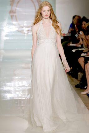 Abito da sposa alla greca Reem Acra 2015