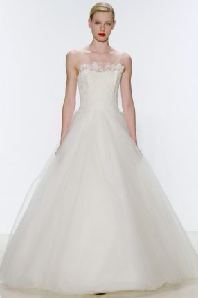 Abito da sposa con gonna in tulle Amsele 2015
