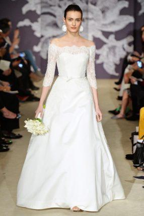 Abito da sposa ricamato Carolina Herrera 2015