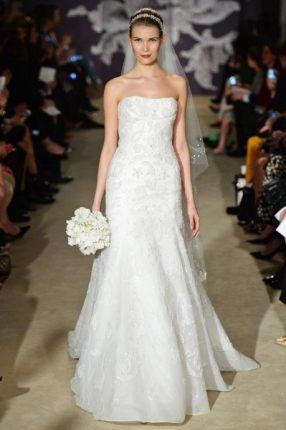 Abito da sposa senza spalline Carolina Herrera 2015