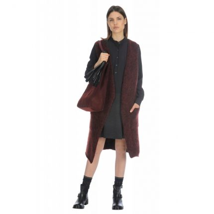 Abito in mix di materiali Stefanel autunno inverno 2015