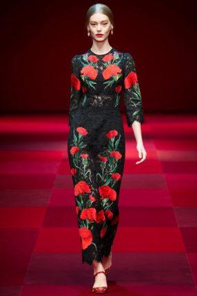 Abito lungo Dolce & Gabbana primavera estate 2015