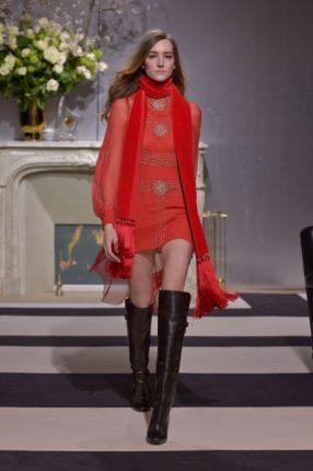 Abito rosso H & M autunno inverno 2013 2014