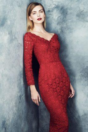 Abito rosso Marks & Spencer autunno inverno 2013 2014