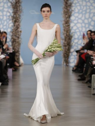 Abito sposa a sirena semplice Oscar de la Renta 2014