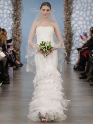 Abito sposa bustier Oscar de la Renta 2014