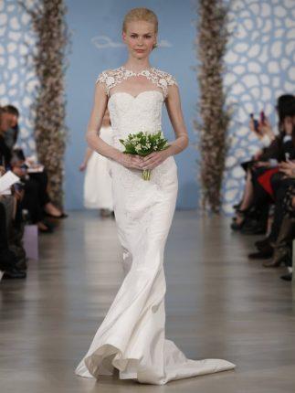 Abito sposa con ricamo Oscar de la Renta 2014